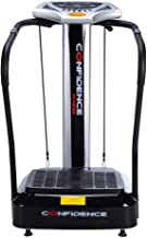 Confidence Fitness Slim Full Body Vibration Platform Fitness Machine, Black (Renewed)