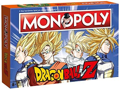Monopoly Dragonball Z Edition - Juego de Mesa para Fans de Son Goku, Trunks, Vegeta y Son Gohan