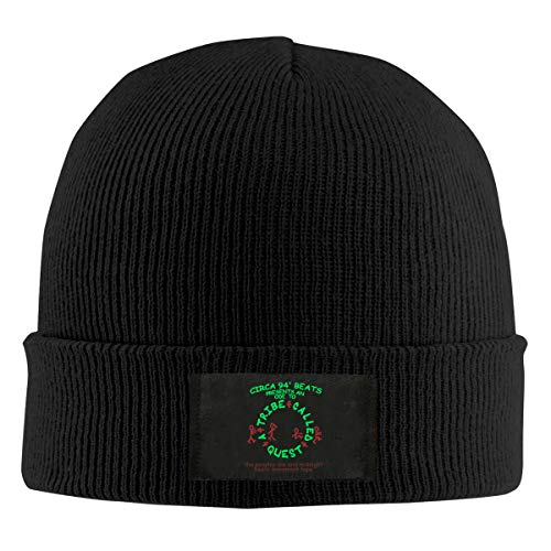 A Tribe Called Quest Beanie Men Women - Unisex Cuffed Plain Skull Knit Hat Cap Black