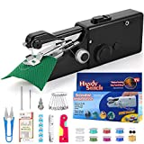 buyfitcase Portable Sewing Machine, Mini Sewing Professional Cordless Sewing Handheld Electric Household Tool - Quick Stitch Tool for Fabric, Clothing, or Kids Cloth Home Travel Use-Black8113