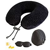 AERIS Travel Pillow - for Restful Sleep on Airplanes, Memory Foam Neck Pillow for Airplane Travel, Easy to...