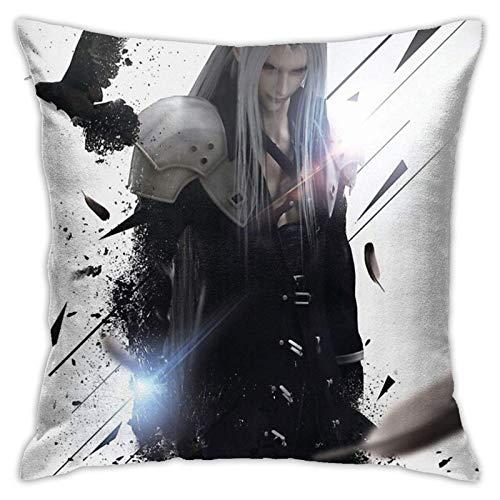 qidong Final Fasy VII - Sephiroth Schlafzimmer Couch Sofa Quadratische Kissenbezüge Home Decor Throw Kissenbezüge 18x18 Zoll