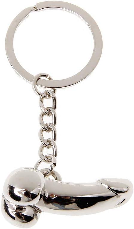 Xdodnev Male Genitalia Key Chain for Lovers Metal Sexy Adult Toy Gift Car Bag Key Holder