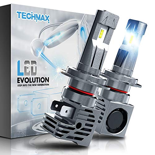 TECHMAX H7 LED Headlight Bulb,Small Design 60W 10000Lm 6500K Xenon White ZES Chips Extremely Bright Conversion Kit of 2