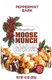 Harry & David Peppermint Bark Moose Munch Popcorn Tin 6.98 oz each (3 Items Per Order, not per case)