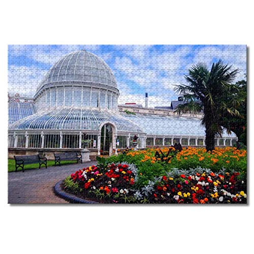 HNFT UK England Glasgow Botanic Gardens Jigsaw Puzzles for Adults Kids 1000 Pieces Wooden Puzzle