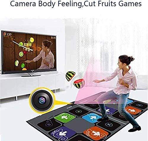 Double Dance Mat Pad für TV Usb Computer Step Game Teppich Dual User HD 11mm Tanzmaschine Yoga Matte Kameraunterstützung mit zwei Griffen
