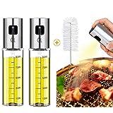 Spray huile et vinaigre,Bouteille d'huile de verre,Distributeur d'huile d'olive,Bouteille d'huile...