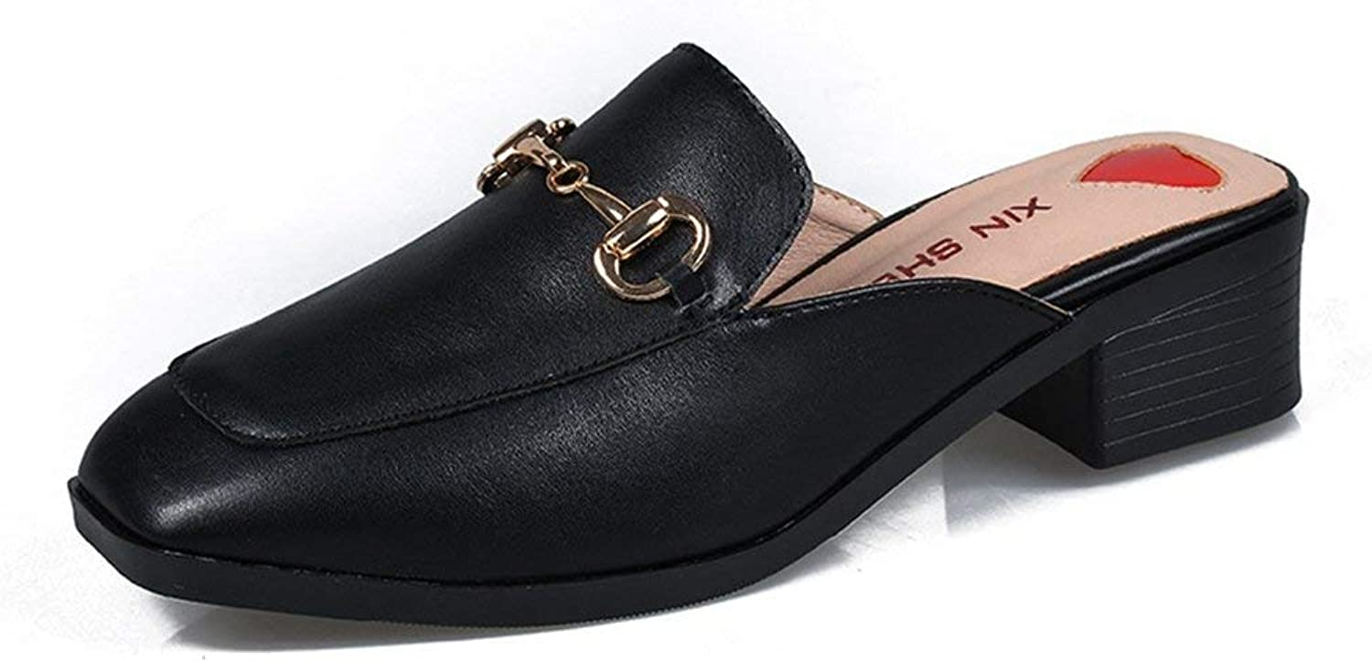 Women Mules Slip On Flats Loafers Round Toe Clogs Low Heels Backless Slide Slipper shoes