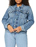 Calvin Klein Foundation Denim Jacket Chaqueta, Bb242/Azul Oscuro, S para Mujer