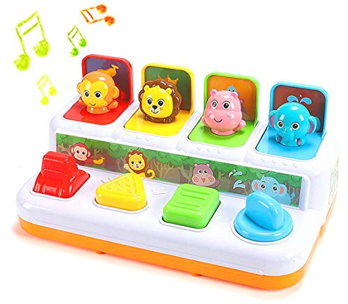 YMDLY Toys Animal Park Interactive Pop Up Music Toy Up- Early Education Activity Center Toy  Ages 12 Months and up Toddlers.