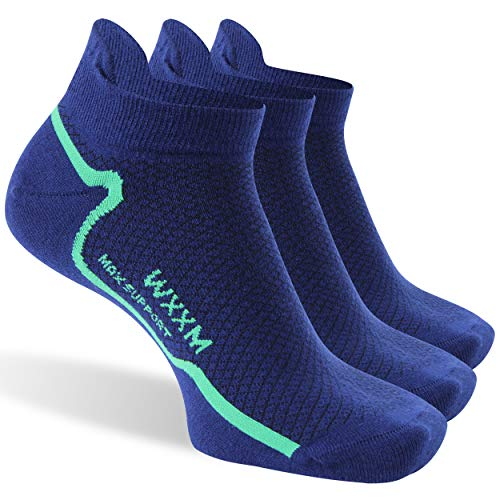 Home Socks, WXXM Meirno Wool Ultralight Ankle Athletic No Show Women Crew Cycling Socks Winter Thin 3 Pairs Large