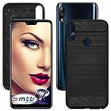mtb more energy® Custodia Carbon per ASUS Zenfone Max PRO M2 (ZB631KL, 6.26'') - Nero - Flessibile - TPU Silicone Case Cover