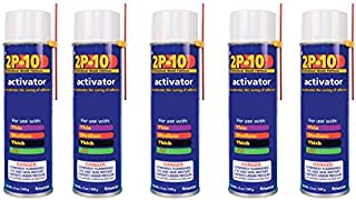 FastCap 2P-10 Professional Adhesive Activator for FastCap 2P-10 Glue, 5-Pack