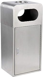 Bacs à Ordures Extérieurs Extérieur Trash Can intérieur Cendrier en Acier Inoxydable Recyclage Grande Bins Poubelle Park S...