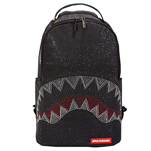 SPRAYGROUND | B2765NSZ Trinity Rhinestones Shark Backpack - Black Black