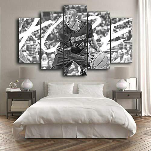 SESHA Póster De Lienzo 5 Piezas HD Arte De La Pared Impresa Decoración Dormitorio El Hogar Pintura De La Lona Foto El Baloncesto De Kobe