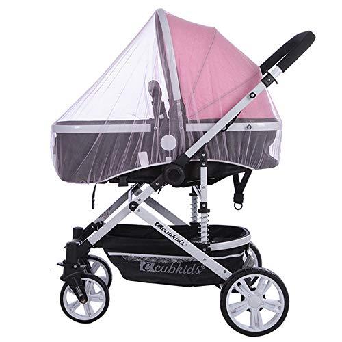MMWW Zuigelingen Kinderwagen Kinderwagen Muggennet Veilig Mesh Buggy Crib Netting Cart Klamboe Kinderwagen Volledige Cover Netting-light_purple