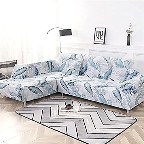 POPXP Fundas de sofá elásticas geométricas para sofá de 1 2 3 4 plazas, fundas elásticas para sofá en forma de L, fundas de sofá de esquina seccional Chaise longue A20 de 3 plazas, lavables