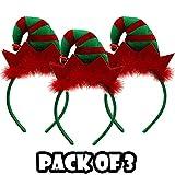 Lizzy® Juego de Diademas de Navidad para Grupos | Talla única para niños y Adultos | Accesorio para el Pelo de Navidad para Disfraces y Fiestas