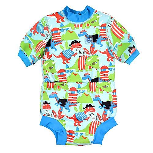 Splash About Happy Nappy Combinaison de plongée avec Couche de Bain Unisex-Baby, Dino Pirates, 0-4 Mois