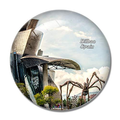 Imán de nevera 3D para el refrigerador del Museo Guggenheim de Bilbao