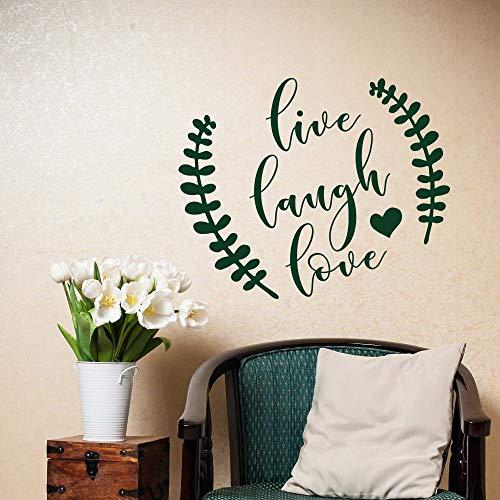 Ajcwhml Hermosa Cita Etiqueta de la Pared Live Laugh Love Pegatinas en Forma de corazón decoración de la Sala de Estar calcomanía Familiar 79x98cm