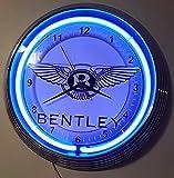 Neon Orologio Bentley Sign Orologio da parete Illuminato con verde neon Ring. Disponibile anche con altri colori al neon di vedere la foto.Neon clock.