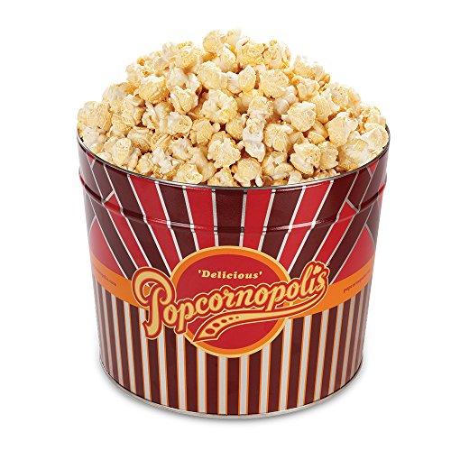 Popcornopolis Gourmet Popcorn 1.26 Gallon Tin with Kettle Corn