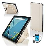 Forefront Cases Google Nexus 9 8.9 Zoll Origami Hülle Schutzhülle Tasche Smart Case Cover Stand - R&um-Geräteschutz & intelligente Auto Schlaf/Wach Funktion + Stift und Bildschirmschutz (WEIß)