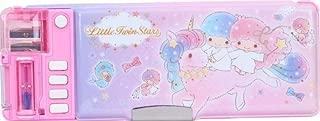 Little Twin Stars Glitter Glue Multi Functional 2-Sided Holder Pencil Pen Box Deluxe Case w/Sharpener Timetable