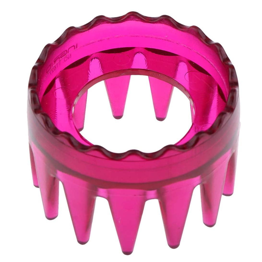 不格好置くためにパック真似るDYNWAVE シャンプーブラシ 洗髪櫛 マッサージャー ヘアコーム ヘアブラシ プラスチック製 全4色 - ローズレッド