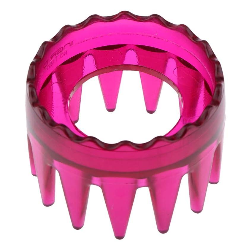 着飾る気がついてさまようDYNWAVE シャンプーブラシ 洗髪櫛 マッサージャー ヘアコーム ヘアブラシ プラスチック製 全4色 - ローズレッド