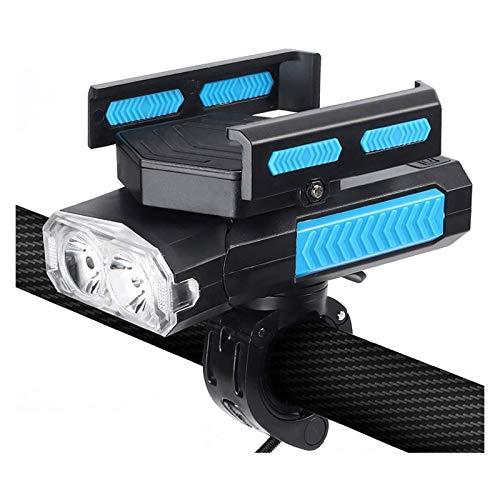 XTZJ Luz de bicicleta, conjunto de luz de bicicleta recargable USB, luces de bicicleta LED super brillante y espalda, Sensor inteligente 400 Lumen 3 Modos IPX5 Impermeable, Se adapta a todas las bicic