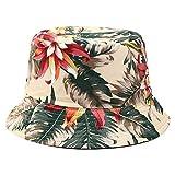 NYSYZSM Sombrero de Cubo Sombreros de Pescador Mujer Bonita impresión de Doble Cara con Sol Sombrero de Cubo Señora Verano Viaje al Aire Libre Sombrero de Lavabo Plegable