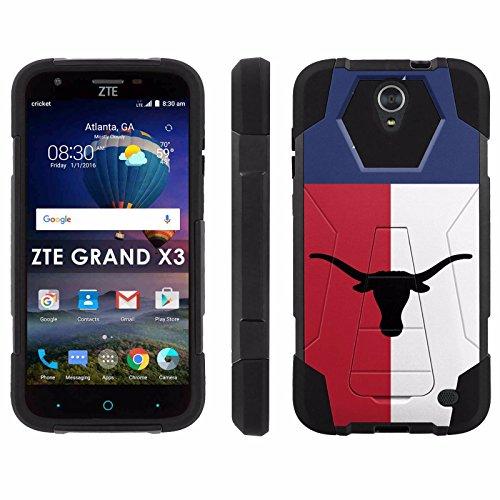 ZTE Uhura Grand X3 Z959 [Warp 7] Phone Cover, Star of Texas - Black Hexo Hybrid Armor Phone Case for ZTE Uhura Grand X3 Z959 [Warp 7]