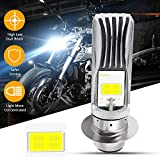 YEORO P15D LED Bulb 1600Lumens High Power 8Watts H6M LED Motorcycle Lamp High Low Beam.Xenon White(1-pack).