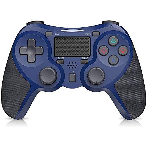 STOGA Controller für PS4, Wireless Controller für Pro/Slim, Touchpanel-Gamepad mit Dual Vibration Shock, Turbo und Audio-Buchse Joystick Controller für PS4