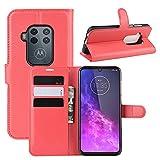 Fertuo Motorola One Zoom Case, Premium Leather Wallet Case