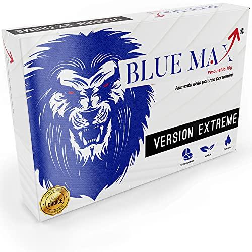BlueMax 2Generazione - Integratori Naturali Senza Ricetta - Super Energia E Aumento Concentrazione - Maca Peruviana Di Origine Naturale - Equivalente Originale 10 Pastiglie Gold Uomo Donna!