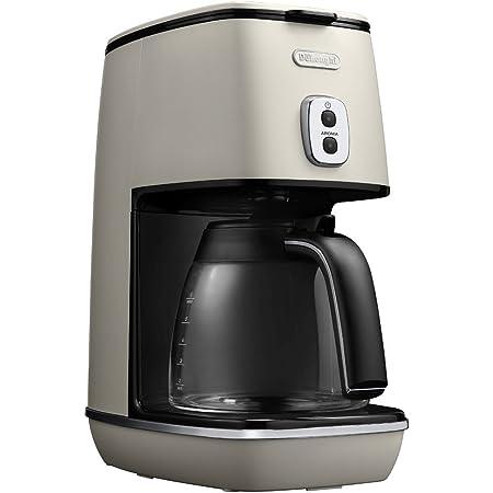 デロンギ(DeLonghi) ディスティンタコレクション ドリップコーヒーメーカー アロマモード搭載 ホワイト 6杯 ICMI011J-W