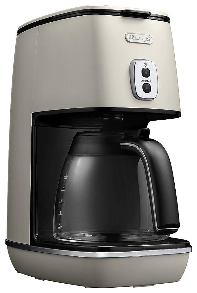 阻害する準備する冷えるデロンギ ドリップコーヒーメーカー ディスティンタコレクション 6杯 チタンコートフィルター ピュアホワイト ICMI011J-W