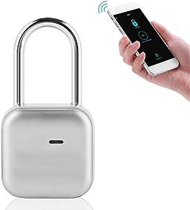 Door Locks, Smart P66 Waterproof Locks Remotely Share Access Suitable for House Door, Backpack, Suitcase, Bike, Gym, Office