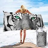 Gebrb Toalla de baño de Microfibra,Toallas de Gimnasio,Cute Leopard Microfiber Fast Drying Towels Suitable for Camping, Backpacking,Gym, Beach, Swimming,Yoga