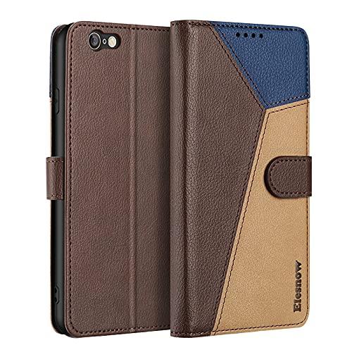"""ELESNOW Cover iPhone 6 / iPhone 6s - 4.7"""", Custodia in Pelle Magnetica Libro Flip Caso Portafoglio per Apple iPhone 6 / 6s (Marrone)"""