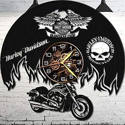 UDS F Vinyl Wall Clock - Motocycle Wall Clock - Vinyl Record - Motocycle Gifts -