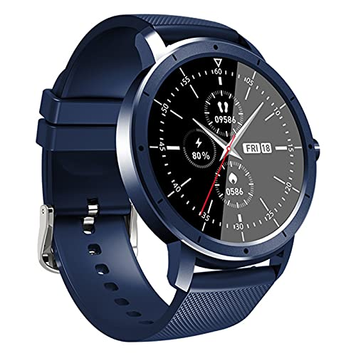 zyz The New HW21 Smart Watch para Hombres Y Mujeres 1.28 Pulgadas Pantalla Completa Impermeable Bluetooth Sleep Monitor Fitness Rasificación del Corazón Rastreador,Azul