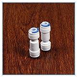 NO LOGO 5pcs 1/4' -1/4' Sistema de ósmosis inversa OD Tubo PE Accesorio de tubería Recta antirretorno Filtro de la válvula Conector rápido Acuario de Agua del RO