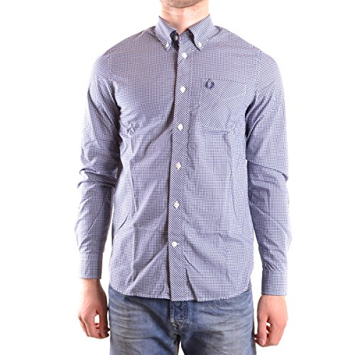 Fred Perry FP Classic Gingham Shirt Camicia, Medieval Blue, M Uomo