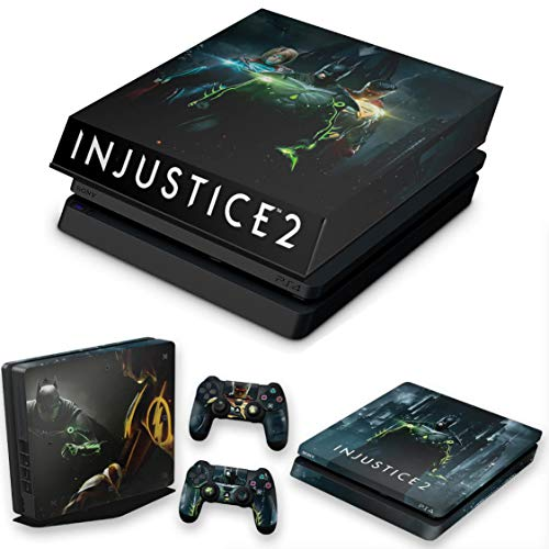 Capa Anti Poeira e Skin para PS4 Slim - Injustice 2